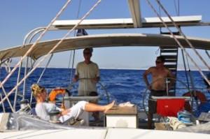 Dubbel stuurwiel l zeiljacht huren in Griekenland l zeilen - Mooi Weer Zeilen, BQ Yachting
